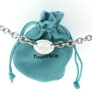 AUTH RETURN TO TIFFANY & CO OVAL TAG BRACELET 925